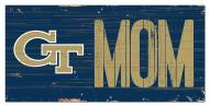 "Georgia Tech Yellow Jackets 6"" x 12"" Mom Sign"