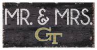 "Georgia Tech Yellow Jackets 6"" x 12"" Mr. & Mrs. Sign"
