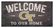 "Georgia Tech Yellow Jackets 6"" x 12"" Welcome Sign"