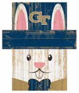 "Georgia Tech Yellow Jackets 6"" x 5"" Easter Bunny Head"