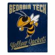 Georgia Tech Yellow Jackets Alumni Raschel Throw Blanket