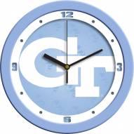 Georgia Tech Yellow Jackets Baby Blue Wall Clock