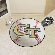 Georgia Tech Yellow Jackets Baseball Rug
