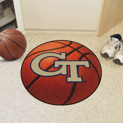 Georgia Tech Yellow Jackets Basketball Mat
