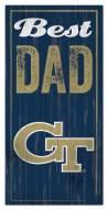 Georgia Tech Yellow Jackets Best Dad Sign