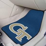 Georgia Tech Yellow Jackets Black 2-Piece Carpet Car Mats