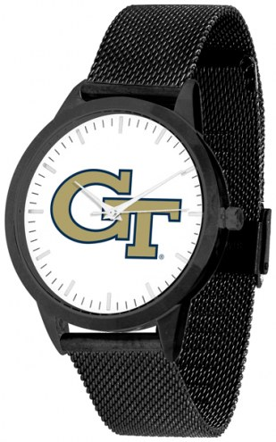 Georgia Tech Yellow Jackets Black Mesh Statement Watch