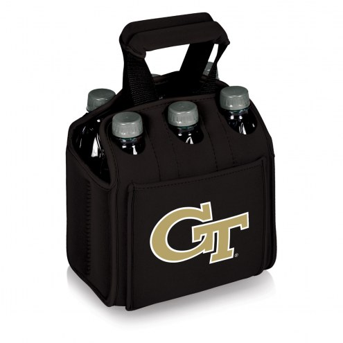 Georgia Tech Yellow Jackets Black Six Pack Cooler Tote