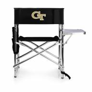 Georgia Tech Yellow Jackets Black Sports Folding Chair