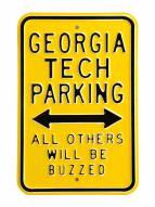 Georgia Tech Yellow Jackets Buzzed Parking Sign