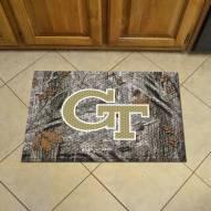 Georgia Tech Yellow Jackets Camo Scraper Door Mat