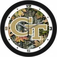 Georgia Tech Yellow Jackets Camo Wall Clock