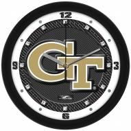 Georgia Tech Yellow Jackets Carbon Fiber Wall Clock