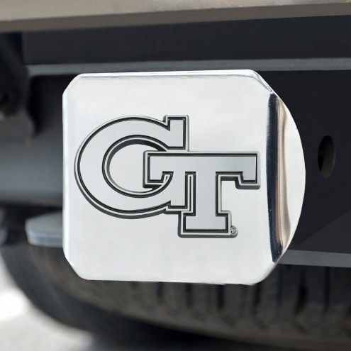 Georgia Tech Yellow Jackets Chrome Metal Hitch Cover