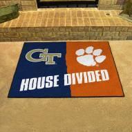 Georgia Tech Yellow Jackets/Clemson Tigers House Divided Mat