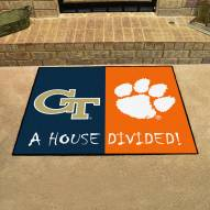 Georgia Tech Yellow Jackets/Clemson Tigers House Divided Mat