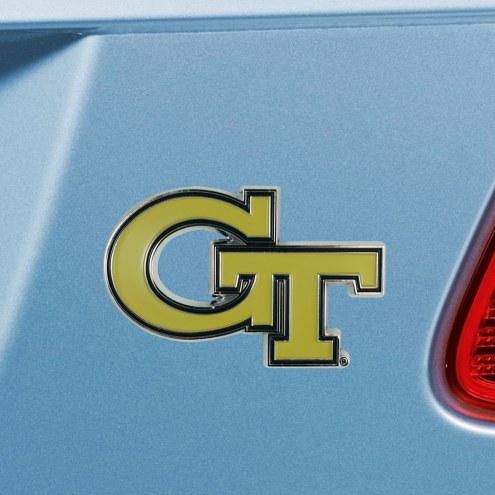 Georgia Tech Yellow Jackets Color Car Emblem
