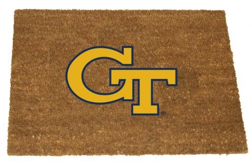 Georgia Tech Yellow Jackets Colored Logo Door Mat