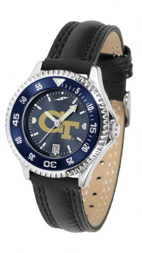 Georgia Tech Yellow Jackets Competitor AnoChrome Women's Watch - Color Bezel