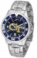 Georgia Tech Yellow Jackets Competitor Steel AnoChrome Color Bezel Men's Watch