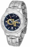 Georgia Tech Yellow Jackets Competitor Steel AnoChrome Men's Watch