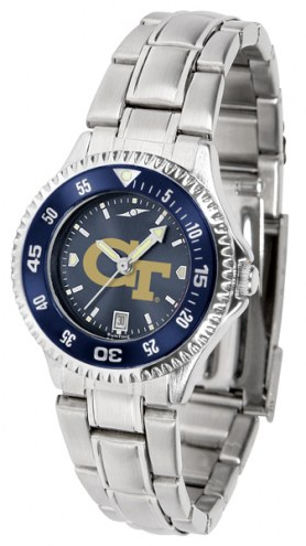Georgia Tech Yellow Jackets Competitor Steel AnoChrome Women's Watch - Color Bezel