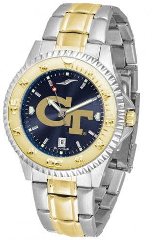 Georgia Tech Yellow Jackets Competitor Two-Tone AnoChrome Men's Watch