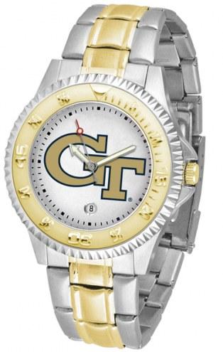Georgia Tech Yellow Jackets Competitor Two-Tone Men's Watch