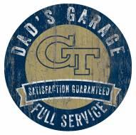 Georgia Tech Yellow Jackets Dad's Garage Sign