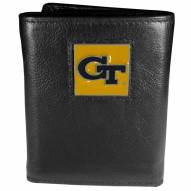 Georgia Tech Yellow Jackets Deluxe Leather Tri-fold Wallet in Gift Box