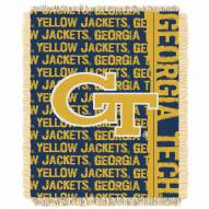 Georgia Tech Yellow Jackets Double Play Woven Throw Blanket