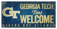 Georgia Tech Yellow Jackets Fans Welcome Sign