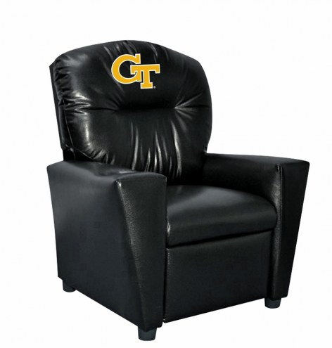 Georgia Tech Yellow Jackets Faux Leather Kid's Recliner