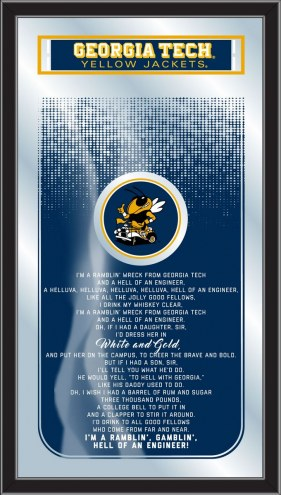 Georgia Tech Yellow Jackets Fight Song Mirror