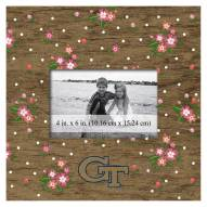 """Georgia Tech Yellow Jackets Floral 10"""" x 10"""" Picture Frame"""