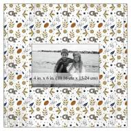 """Georgia Tech Yellow Jackets Floral Pattern 10"""" x 10"""" Picture Frame"""