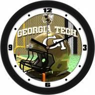 Georgia Tech Yellow Jackets Football Helmet Wall Clock