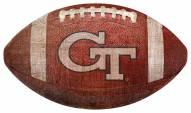 Georgia Tech Yellow Jackets Football Shaped Sign