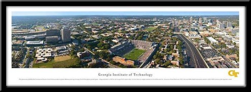 Georgia Tech Yellow Jackets Framed Stadium Print
