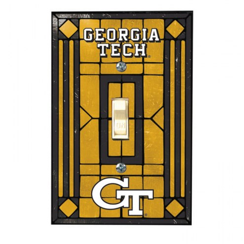 Georgia Tech Yellow Jackets Glass Single Light Switch Plate Cover