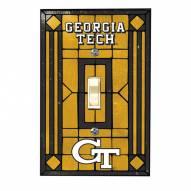 Georgia Tech Yellow Jackets Glass Single Light Switch Plate Cover