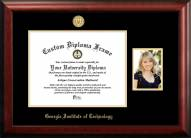 Georgia Tech Yellow Jackets Gold Embossed Diploma Frame with Portrait