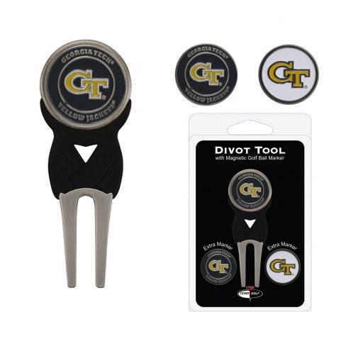 Georgia Tech Yellow Jackets Golf Divot Tool Pack