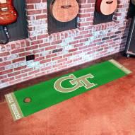 Georgia Tech Yellow Jackets Golf Putting Green Mat