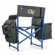 Georgia Tech Yellow Jackets Gray/Blue Fusion Folding Chair