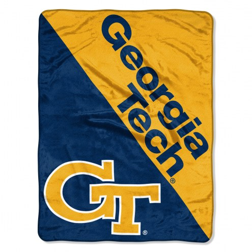Georgia Tech Yellow Jackets Halftone Raschel Blanket