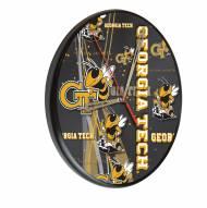 Georgia Tech Yellow Jackets Digitally Printed Wood Clock