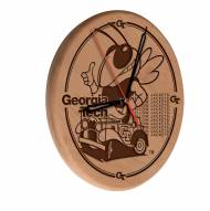 Georgia Tech Yellow Jackets Laser Engraved Wood Clock