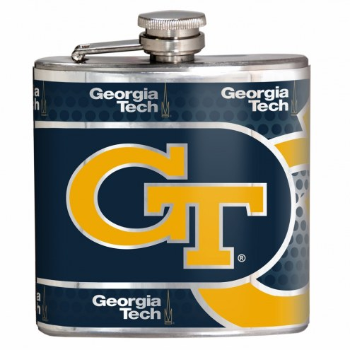 Georgia Tech Yellow Jackets Hi-Def Stainless Steel Flask