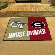 Georgia Tech Yellow Jackets/Georgia Bulldogs House Divided Mat